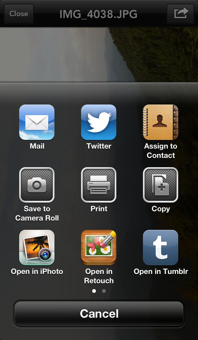 Instashare app iOS 01