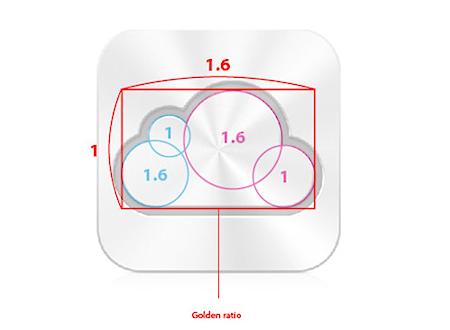 iCloud」のアイコンは黄金比でデザインされていた - iPod LOVE