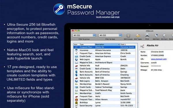 Msecure passwordmanager