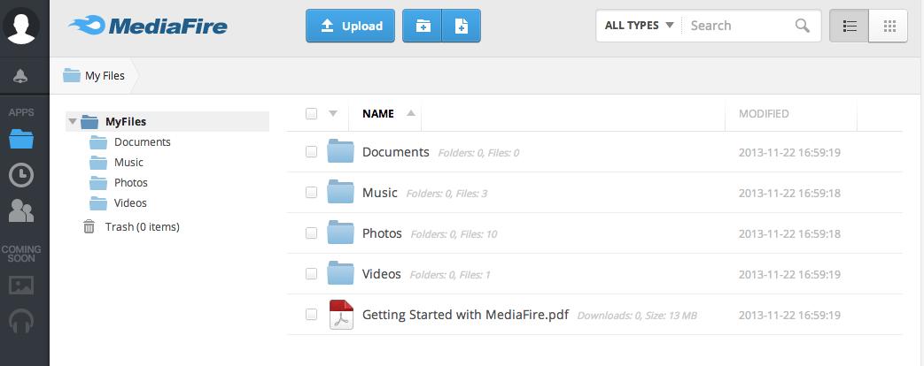 MediaFire Desktop 08