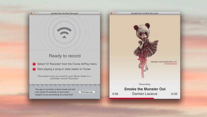 DoubleTwist Airplayrecorder mac 02
