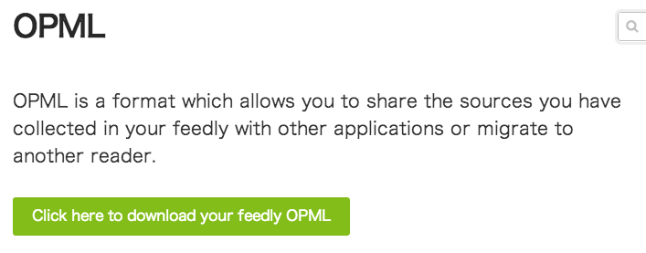 Feedly OPML export 01