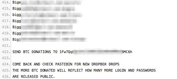Dropbox passwordleak