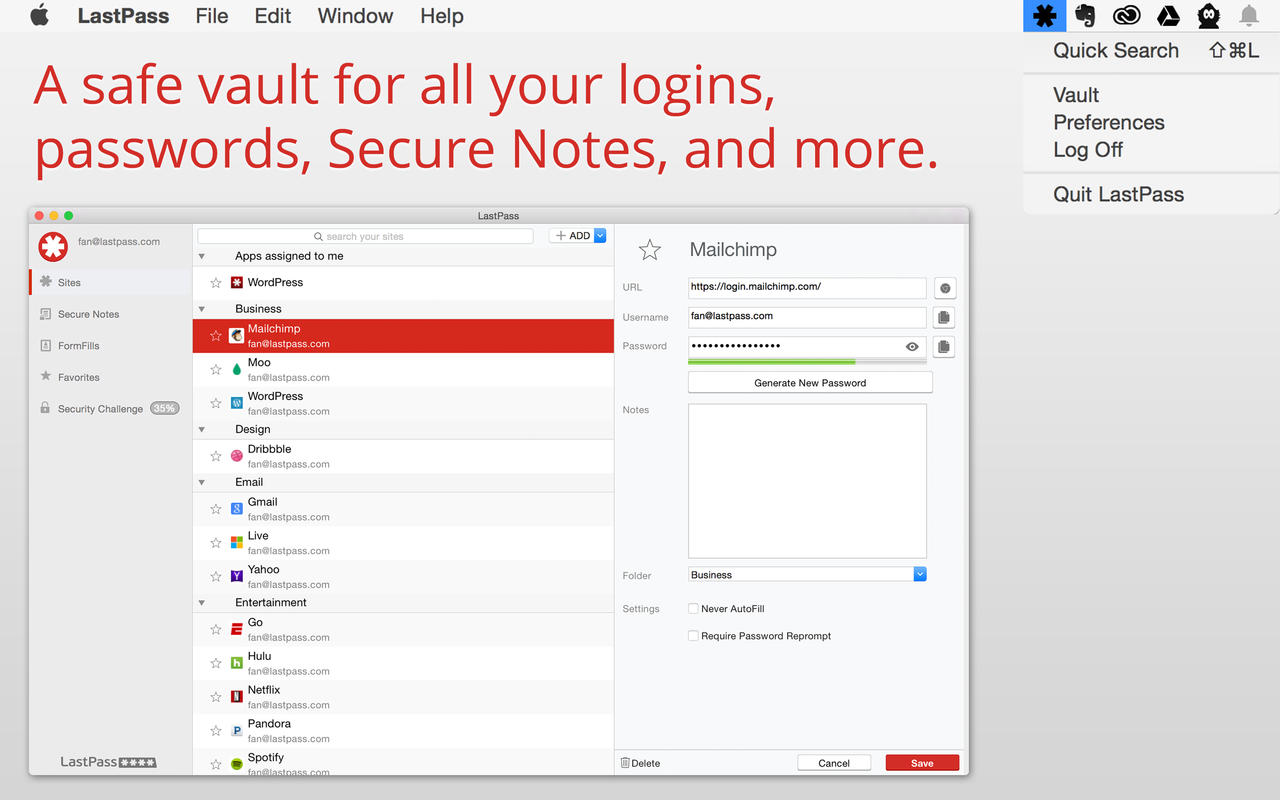 LastPass for Mac 02