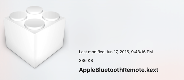 AppleBluetoothRemote kext