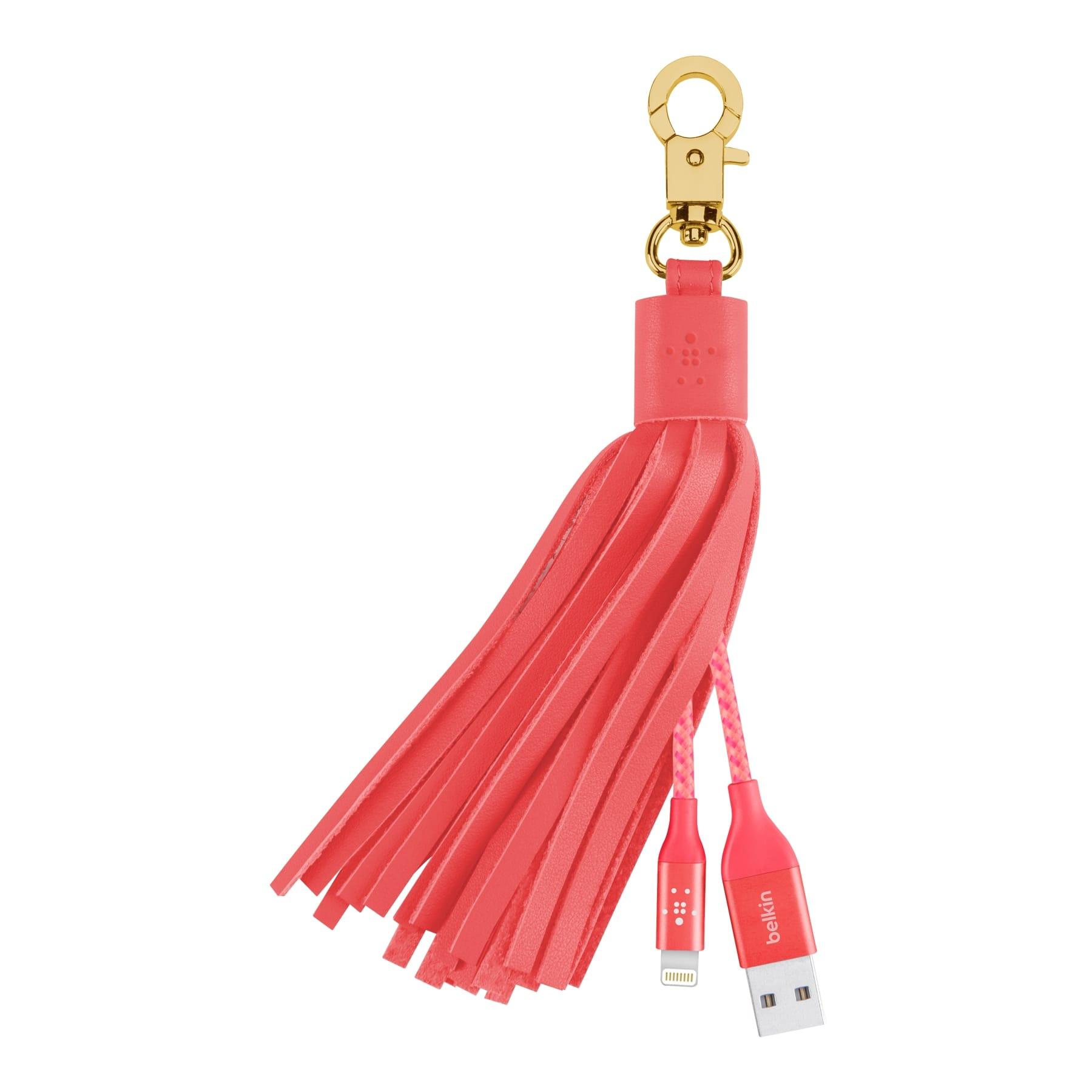 Leather Tassel Fringe F8J174bt Pink