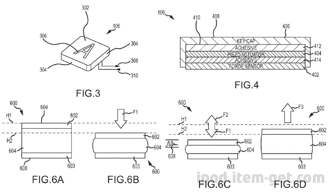 AppleForceTouchKeyboard Patents