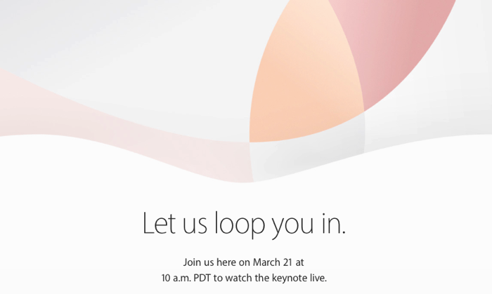 AppleEvent KeynoteMarch2016