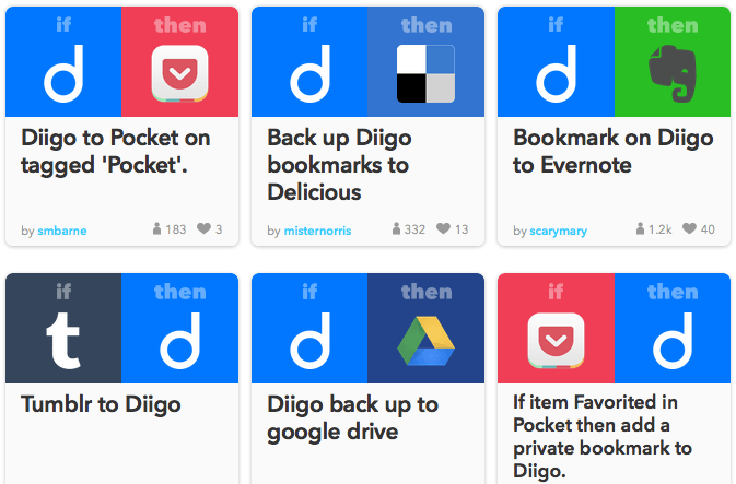 IFTTT on DiigoRecipes