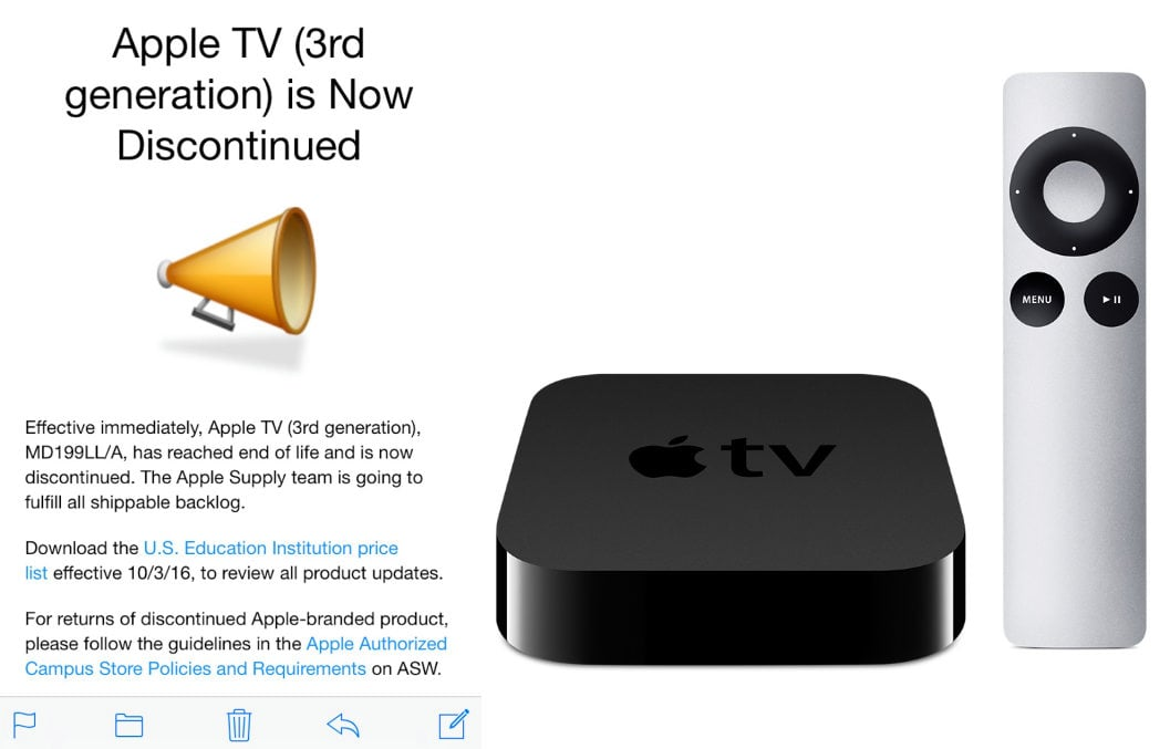 Appletv3 discontinued