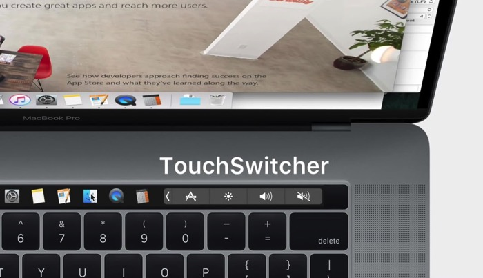 Touchswitcher touchbar