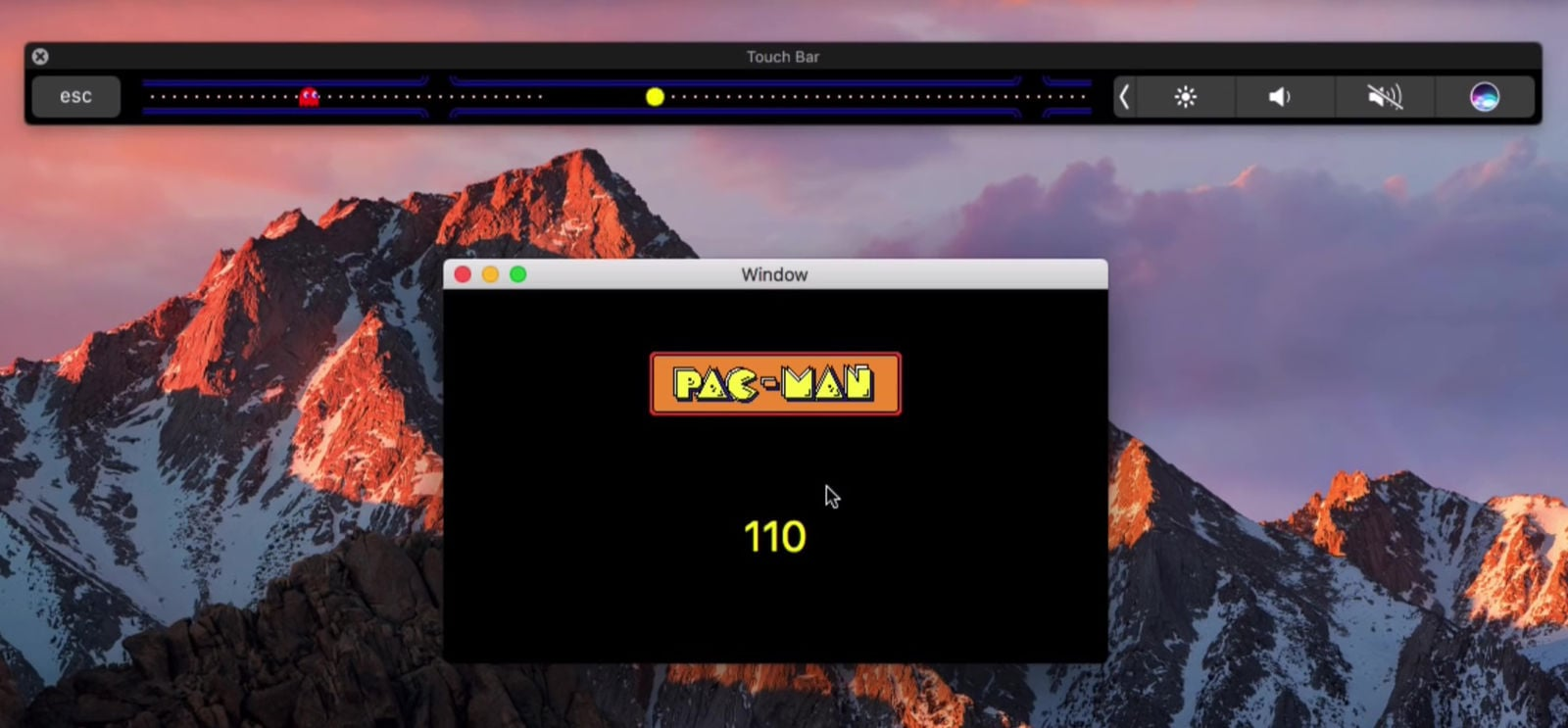 Touchbar packman