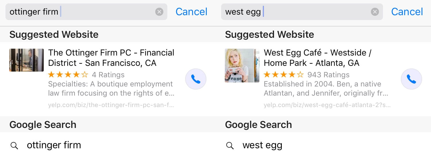 Ios suggested call