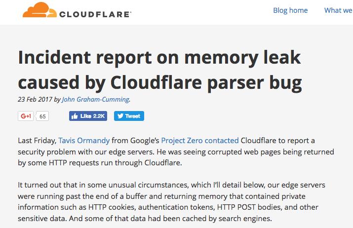 Cloudflare memoryleakbug