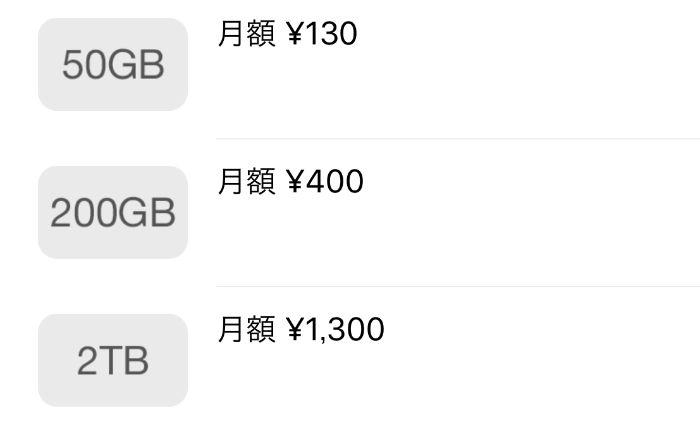 Icloud price