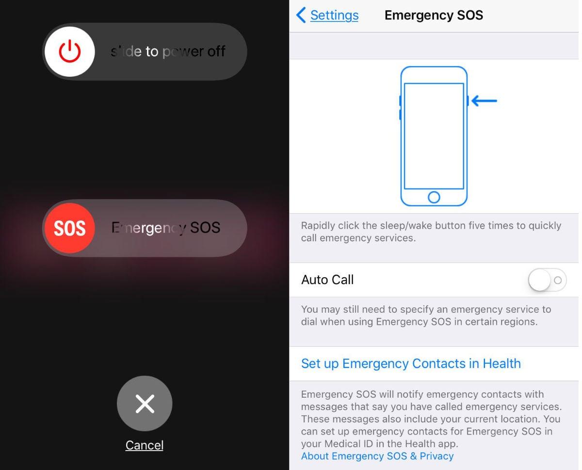 IOS11 emergencySOS