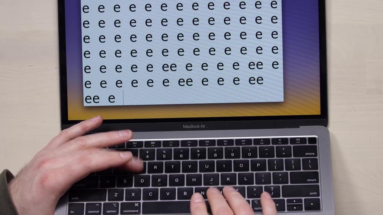MacBookAir2018 Keyboardissue 01