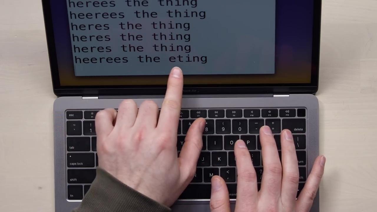 MacBookAir2018 Keyboardissue 02