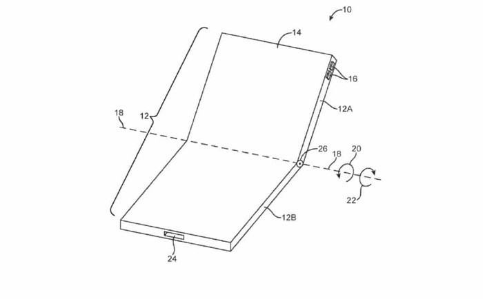 Foldable iPhone patent
