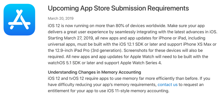 AppStore SubmissionRequirements19327