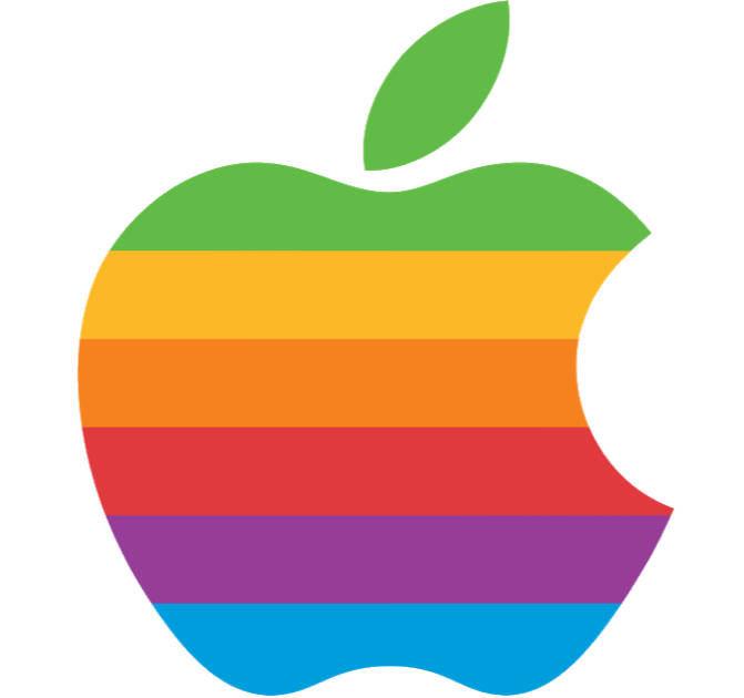 Apple rainbow logo 2019