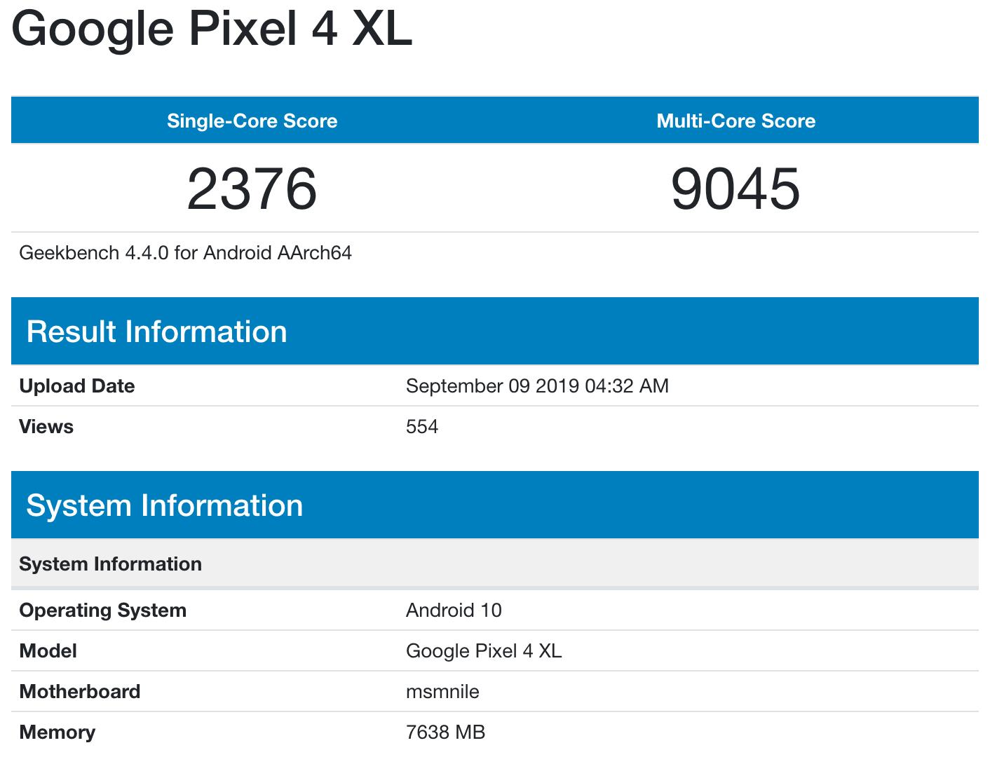 Googlepixel4xl 8gbram
