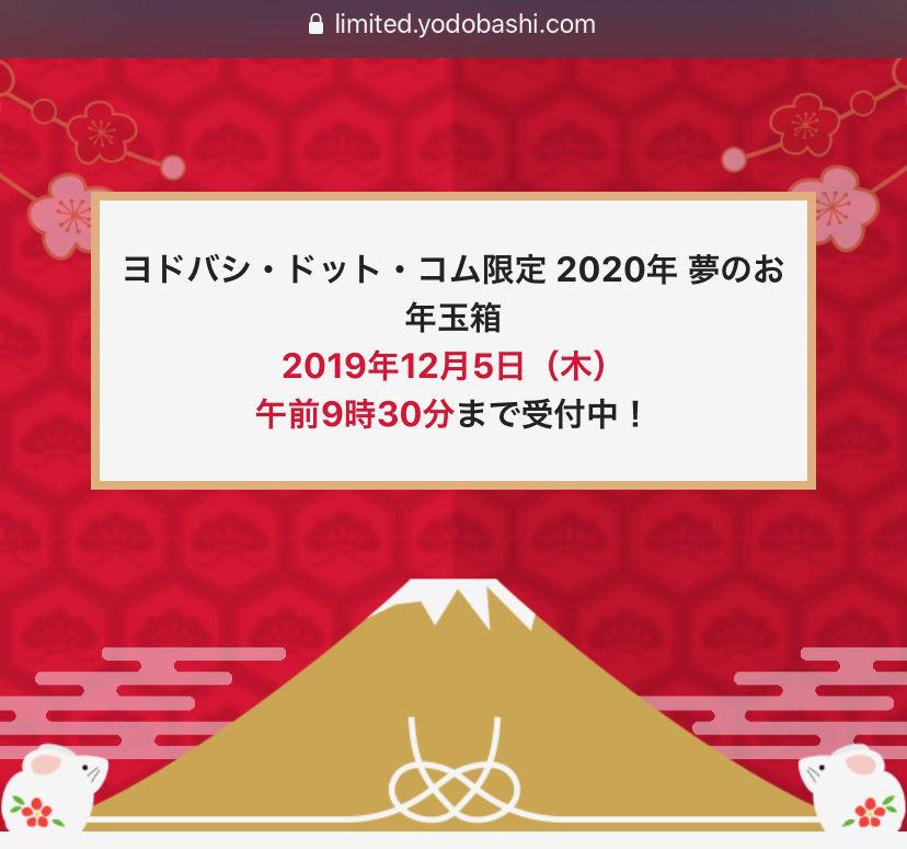 Yodobashi fukubukuro2020 01