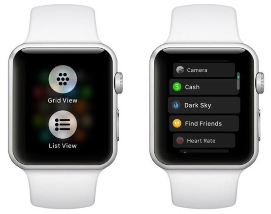 Watchos4 change app view