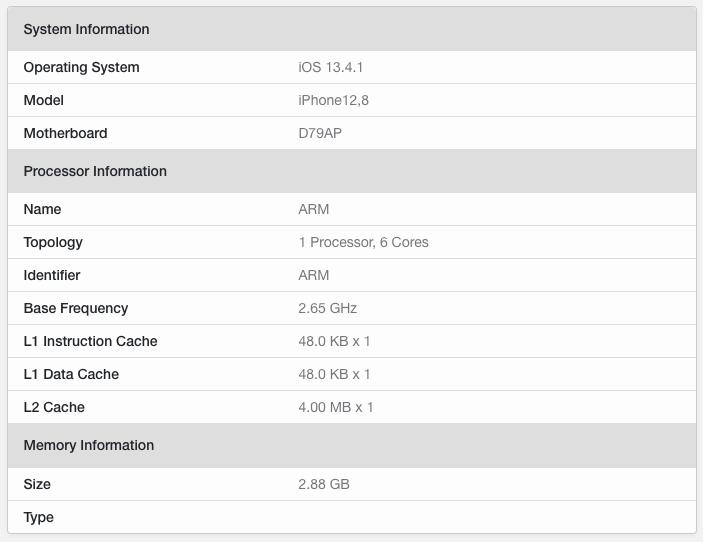IPhoneSE2020 benchmark 02