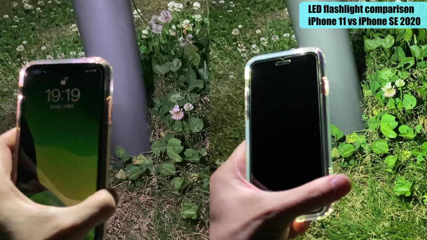 IPhone11vsiPhoneSE2020 LEDcomparison 02