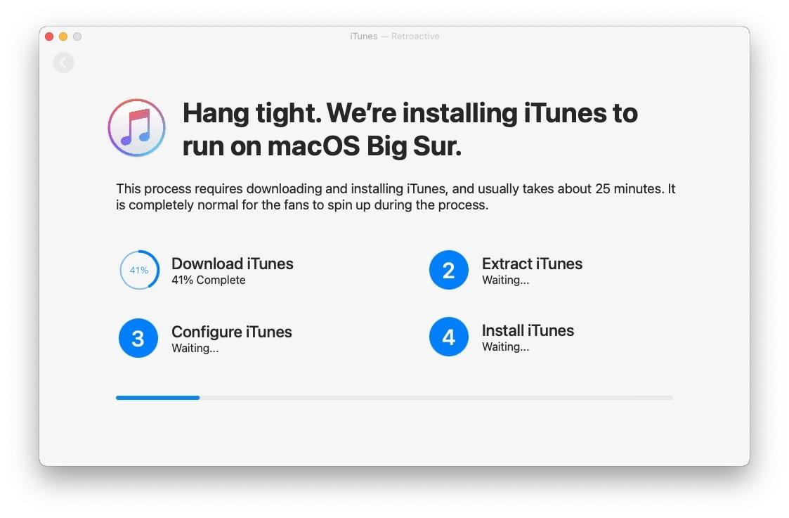 MacOSBigSur iTunesinstall 07