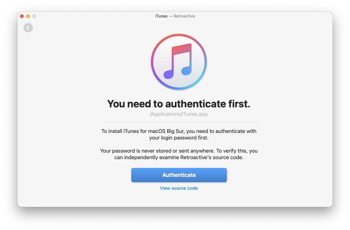 MacOSBigSur iTunesinstall 09