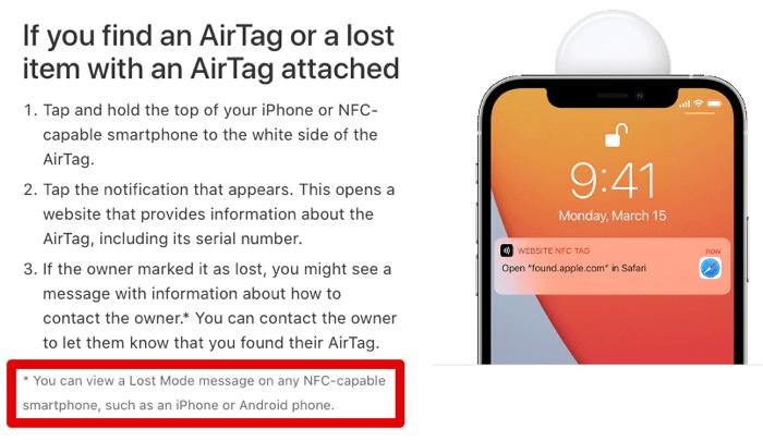 Airtag lostmode androidokdesuka