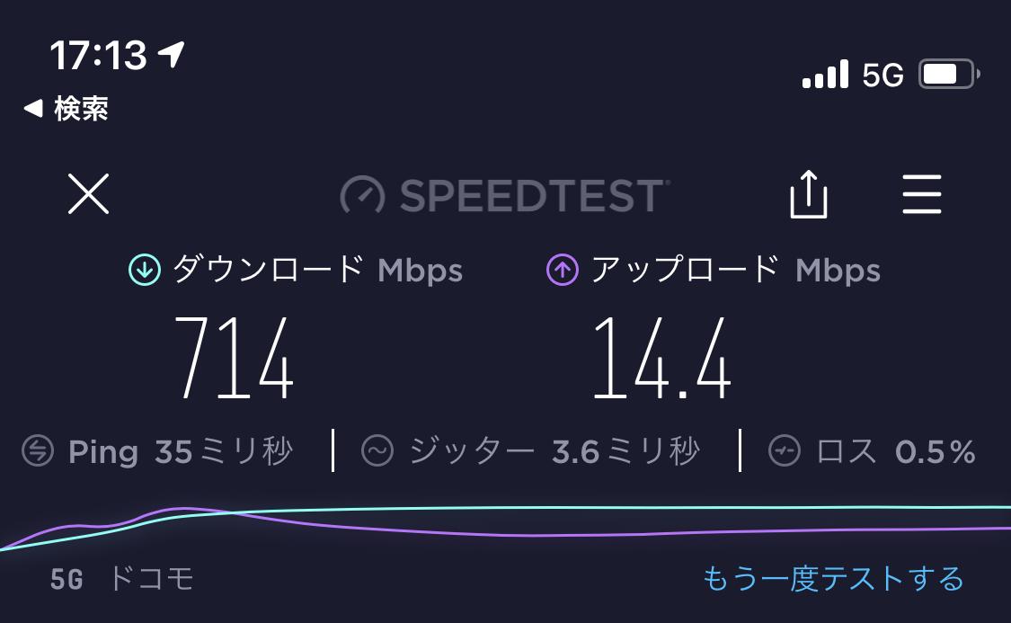 Ahamo 5G speedtest 03