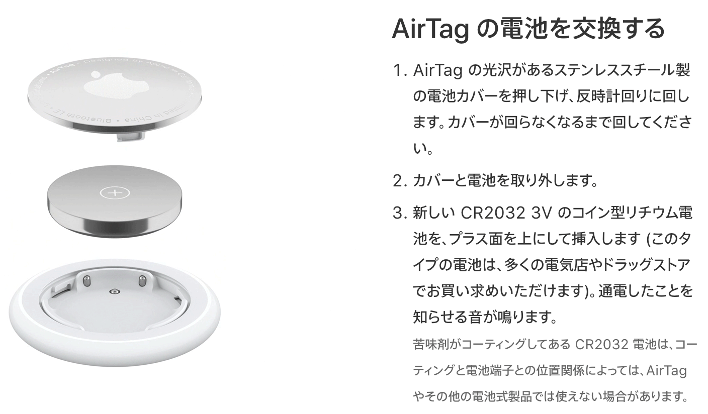 AirTags replacement CR2032 02
