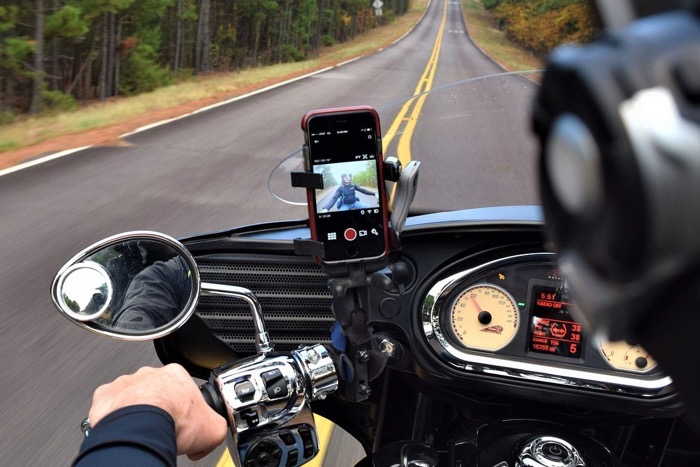 Motorcycle bike iPhone camera issue